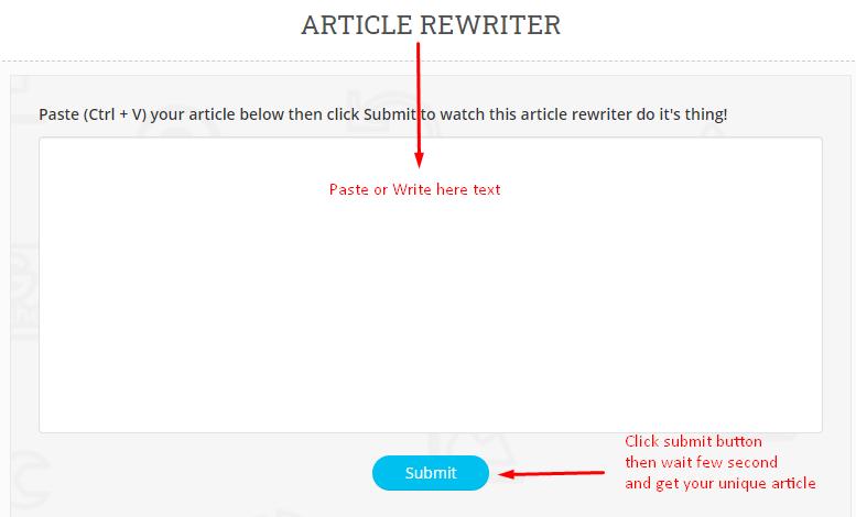 Article Rewriter Spinner Rephraser Pro Free